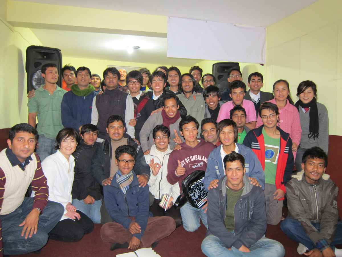 Musicians' workshop in Nepal
