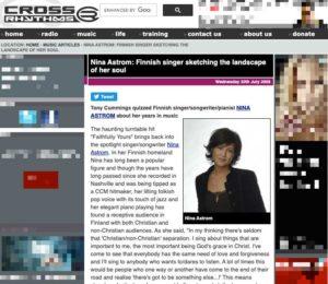 Cross Rhytms - Interview with Nina Åström